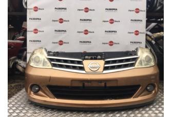 Бампер, фара, панель, радиатор, решётка, ноускат Nissan Tiida, 2007-2013