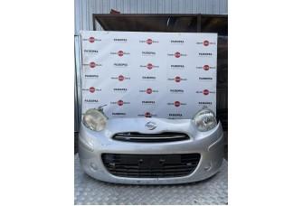 Бампер, фара, панель, радиатор, ноускат Nissan Micra К13, 2010-2014